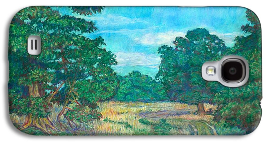 Landscape Galaxy S4 Case featuring the painting Dirt Road Near Rock Castle Gorge by Kendall Kessler