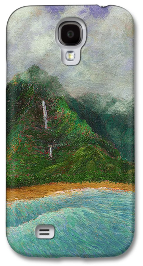Coastal Decor Galaxy S4 Case featuring the painting Distant Falls by Kenneth Grzesik