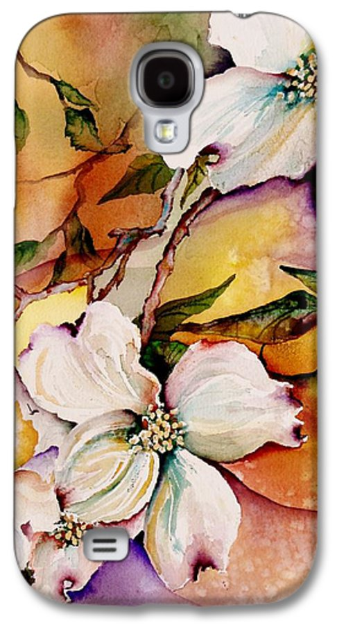 Dogwoods Galaxy S4 Case featuring the painting Dogwood In Spring Colors by Lil Taylor