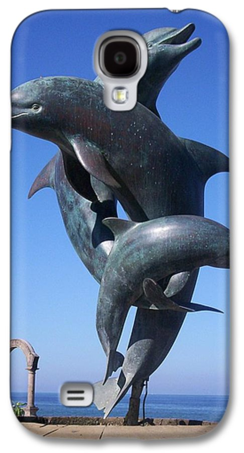 Jandrel Galaxy S4 Case featuring the photograph Dolphin Dance by J Andrel