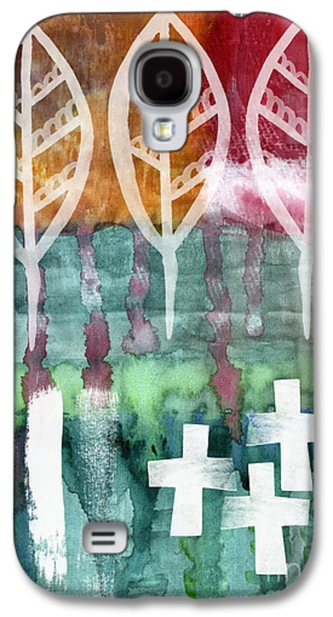 Abstract Painting Galaxy S4 Case featuring the painting Done Too Soon by Linda Woods