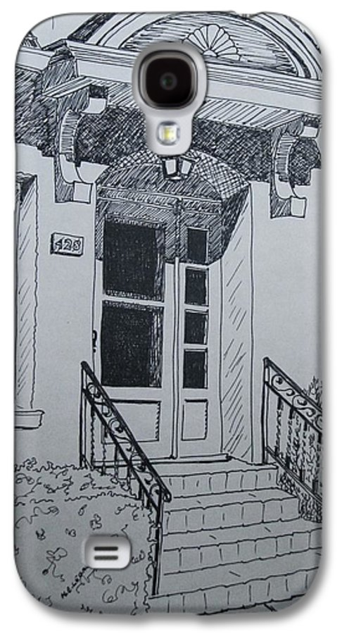 Pen And Ink Galaxy S4 Case featuring the drawing Doorway by Mary Ellen Mueller Legault