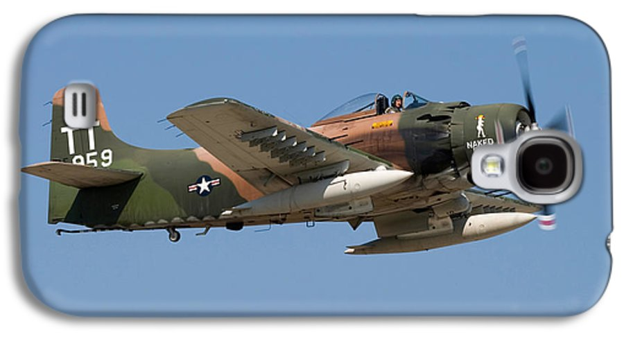 3scape Galaxy S4 Case featuring the photograph Douglas Ad-4 Skyraider by Adam Romanowicz