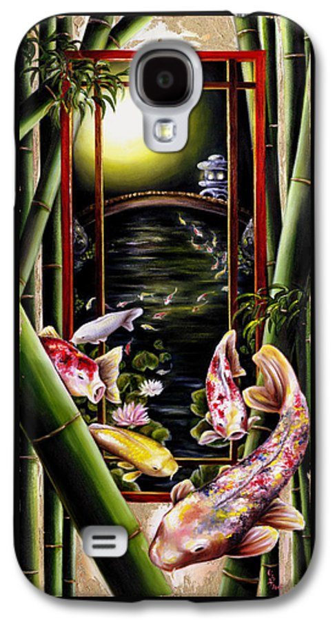 Japanese Galaxy S4 Case featuring the painting Dream by Hiroko Sakai