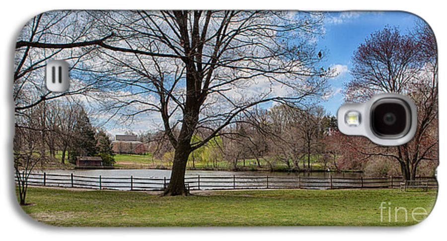 Haverford College Galaxy S4 Case featuring the photograph Duck Pond Haverford College by Kay Pickens