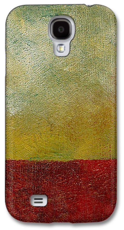 Abstract Landscape Galaxy S4 Case featuring the painting Earth Study One by Michelle Calkins
