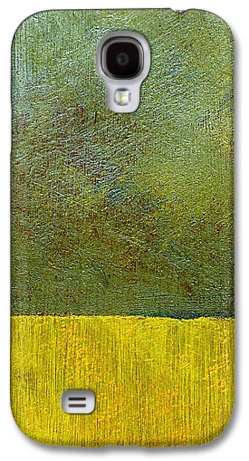 Abstract Landscape Galaxy S4 Case featuring the painting Earth Study Two by Michelle Calkins