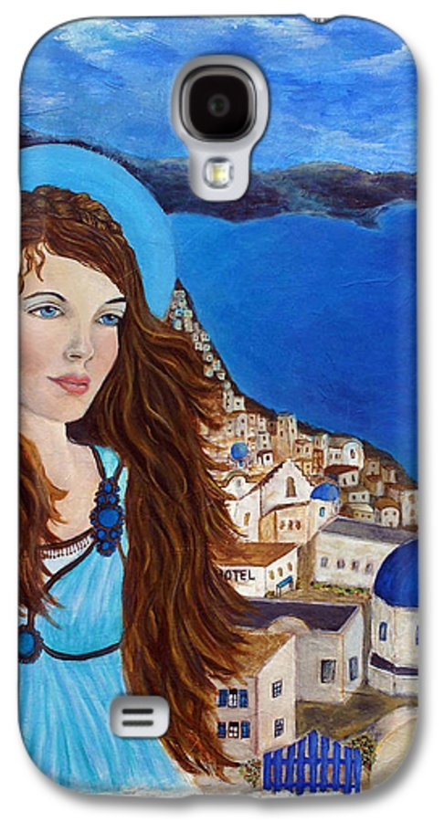 Angel Galaxy S4 Case featuring the painting Earthangel Athena by The Art With A Heart By Charlotte Phillips