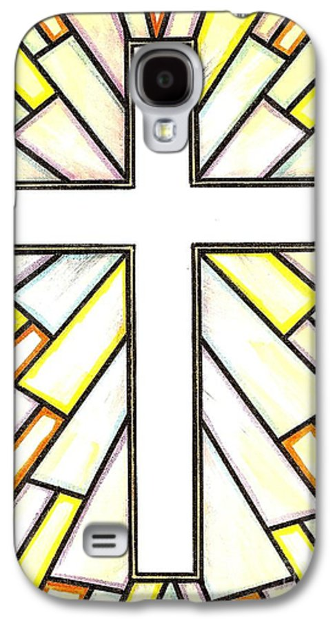 Cross Galaxy S4 Case featuring the painting Easter Cross 3 by Jim Harris