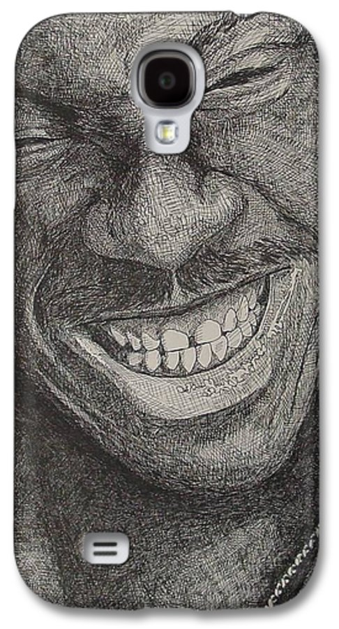 Portraiture Galaxy S4 Case featuring the drawing Eddie by Denis Gloudeman