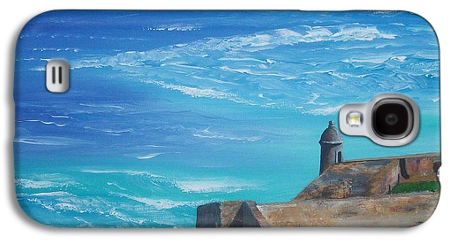 El Morro Ii Galaxy S4 Case featuring the painting El Morro II by Tony Rodriguez
