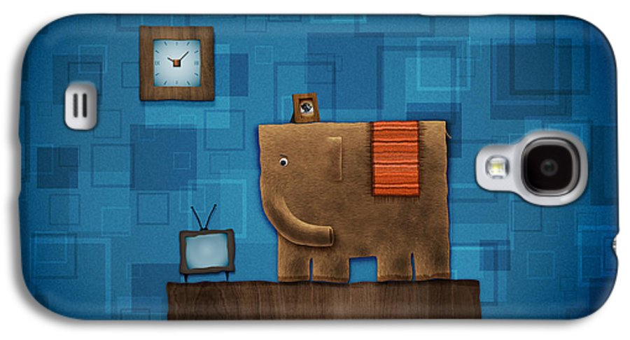 Abstract Galaxy S4 Case featuring the digital art Elephant On The Wall by Gianfranco Weiss