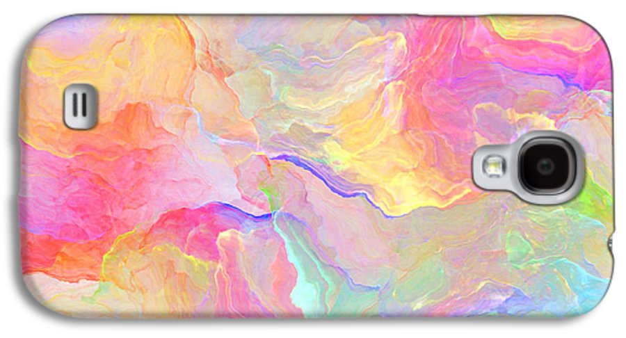 Abstract Galaxy S4 Case featuring the painting Eloquence - Abstract Art by Jaison Cianelli