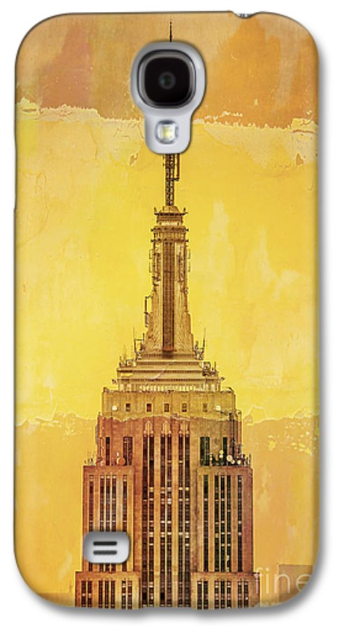New York Galaxy S4 Case featuring the digital art Empire State Building 4 by Az Jackson