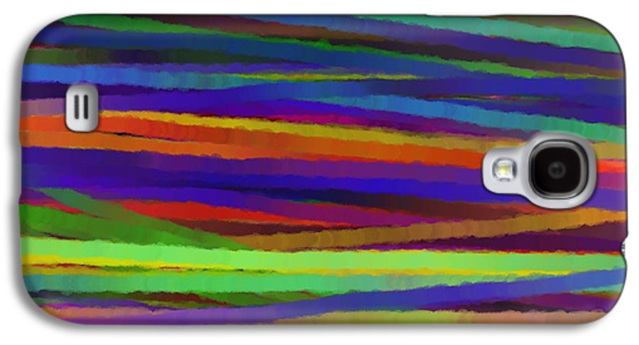 Abstract Galaxy S4 Case featuring the painting Encore Que by Sir Josef - Social Critic - Maha Art