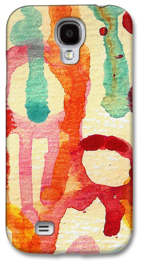 Abstract Galaxy S4 Case featuring the painting Encounters 5 by Amy Vangsgard