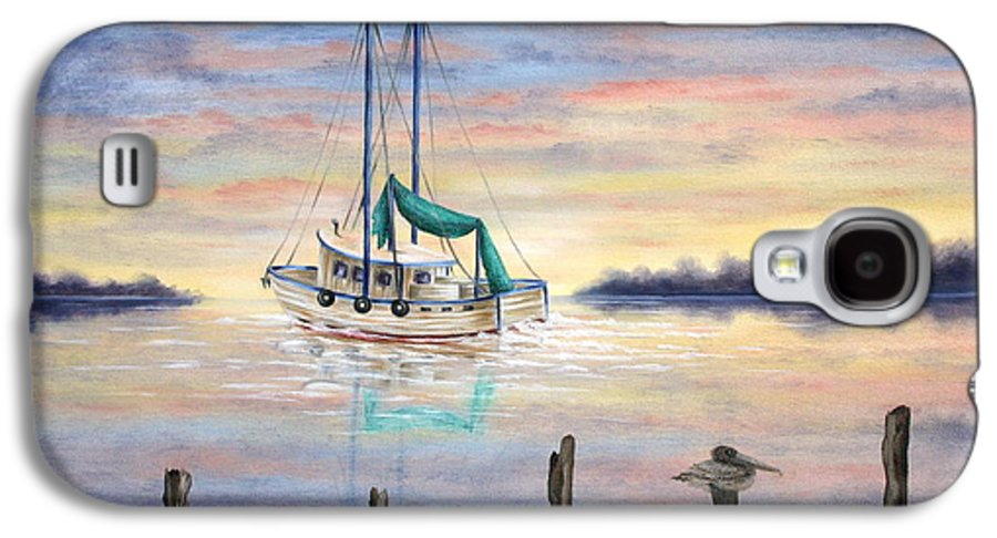 Seascape Galaxy S4 Case featuring the painting End Of The Day by Ruth Bares