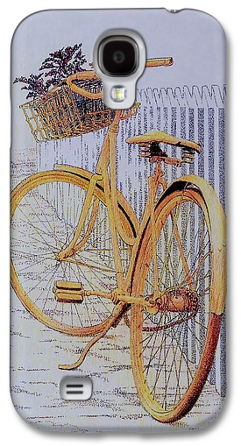 Bicycle Yellow Summer Flowers Plants Galaxy S4 Case featuring the painting Endless Summer by Tony Ruggiero