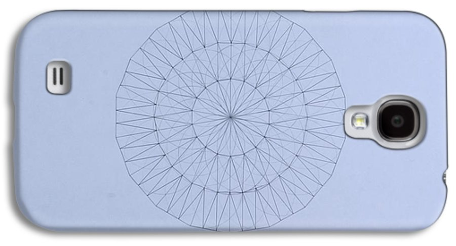 Jason Padgett Galaxy S4 Case featuring the drawing Energy Wave 20 Degree Frequency by Jason Padgett