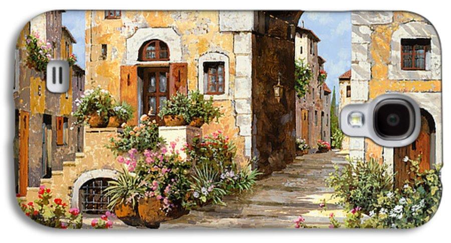 Cityscape Galaxy S4 Case featuring the painting Entrata Al Borgo by Guido Borelli
