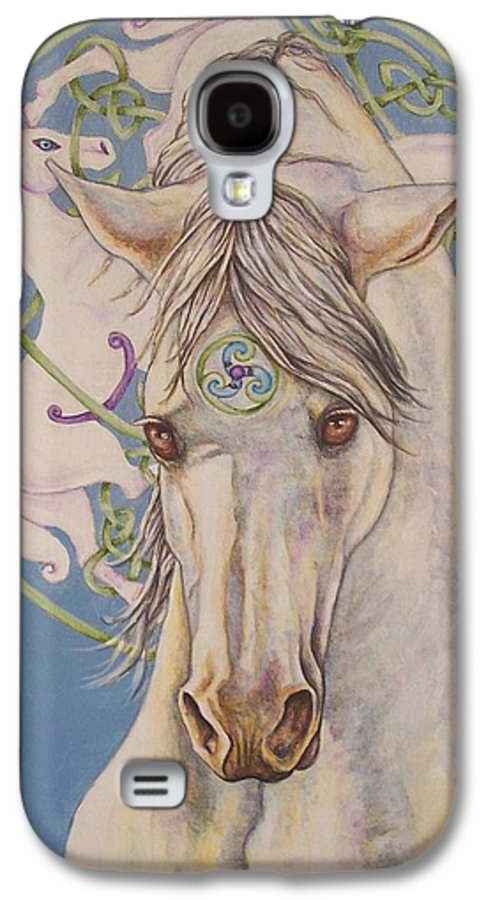Celtic Galaxy S4 Case featuring the painting Epona The Great Mare by Beth Clark-McDonal
