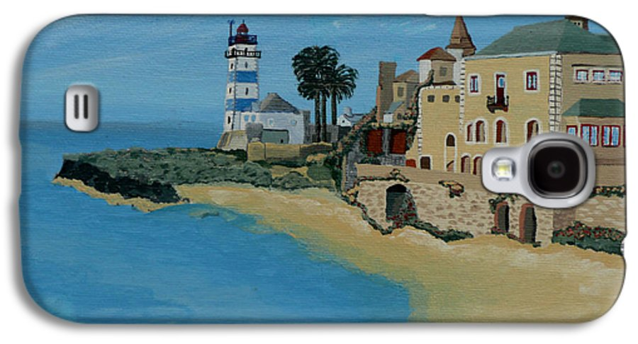 Lighthouse Galaxy S4 Case featuring the painting European Lighthouse by Anthony Dunphy