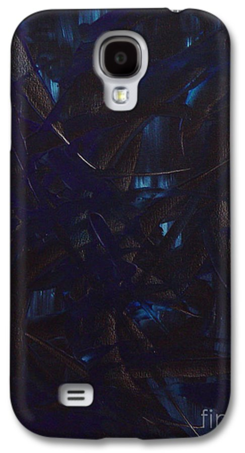 Abstract Galaxy S4 Case featuring the painting Expectations Blue by Dean Triolo