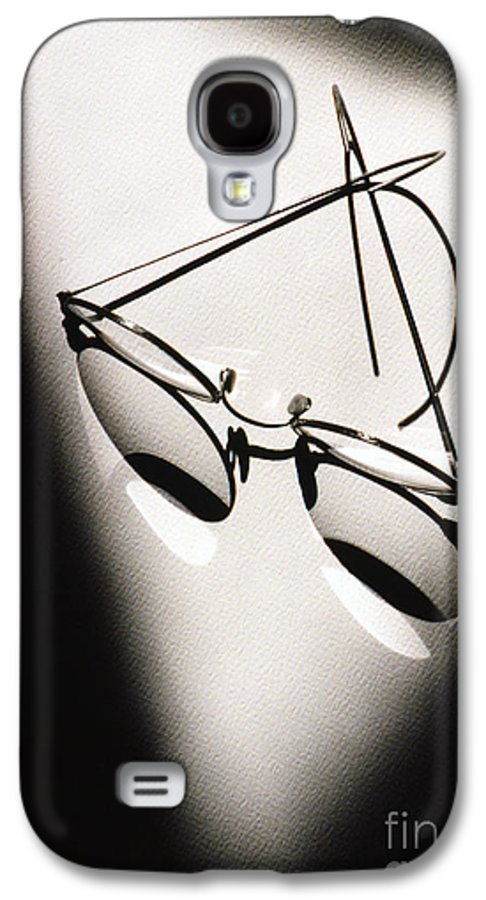Black & White Galaxy S4 Case featuring the photograph Eye Glasses by Tony Cordoza