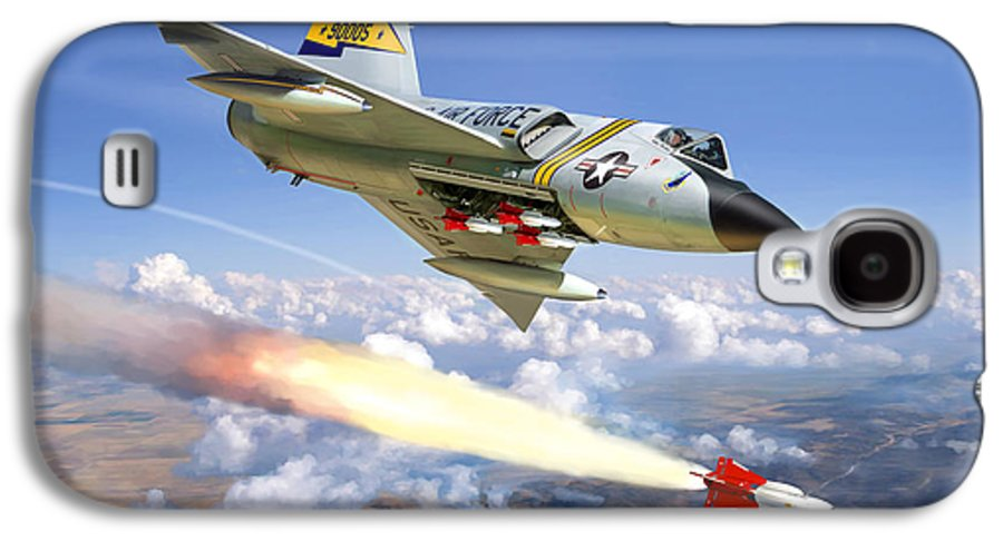 Aviation Galaxy S4 Case featuring the painting F-106 Delta Dart 5th Fis by Mark Karvon