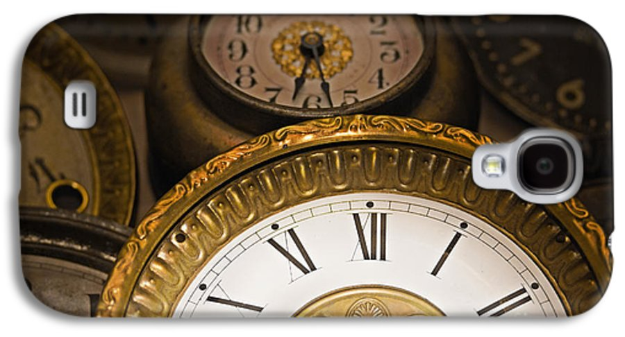Clock Galaxy S4 Case featuring the photograph Face Of Time by Tom Gari Gallery-Three-Photography
