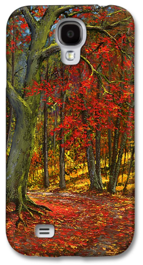 Landscape Galaxy S4 Case featuring the painting Fallen Leaves by Frank Wilson