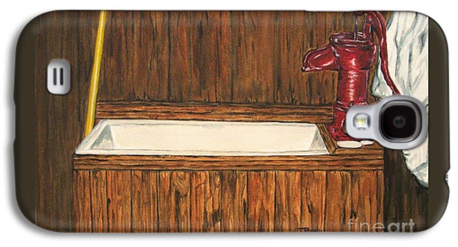 Farm Sink Galaxy S4 Case featuring the painting Farm Sink by Regan J Smith
