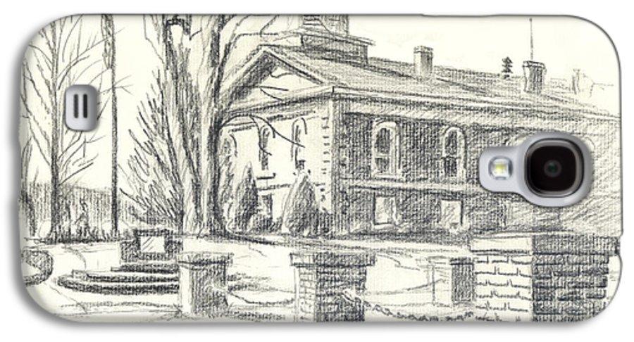 February Morning No Ctc102 Galaxy S4 Case featuring the drawing February Morning No Ctc102 by Kip DeVore