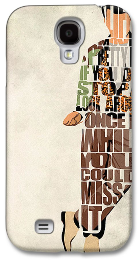 Ferris Bueller Galaxy S4 Case featuring the drawing Ferris Bueller's Day Off by Ayse Deniz