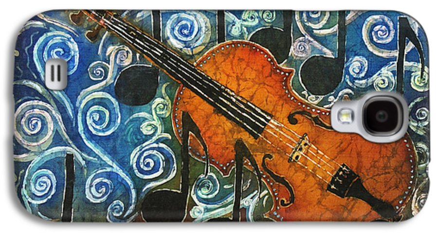 Fiddle Galaxy S4 Case featuring the painting Fiddle 1 by Sue Duda