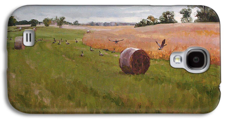 Landscape Galaxy S4 Case featuring the painting Field Day by Scott Harding