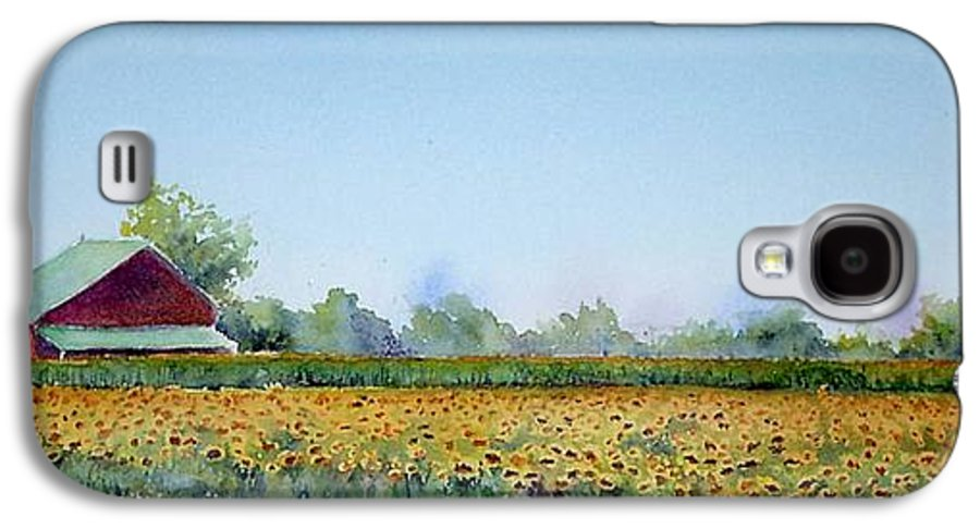 Landscape Galaxy S4 Case featuring the painting Field Of Sunshine by Patricia Henderson