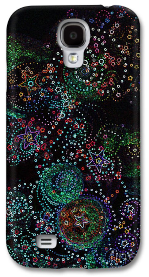 Firststarart Galaxy S4 Case featuring the mixed media Fireworks Celebration By Jrr by First Star Art