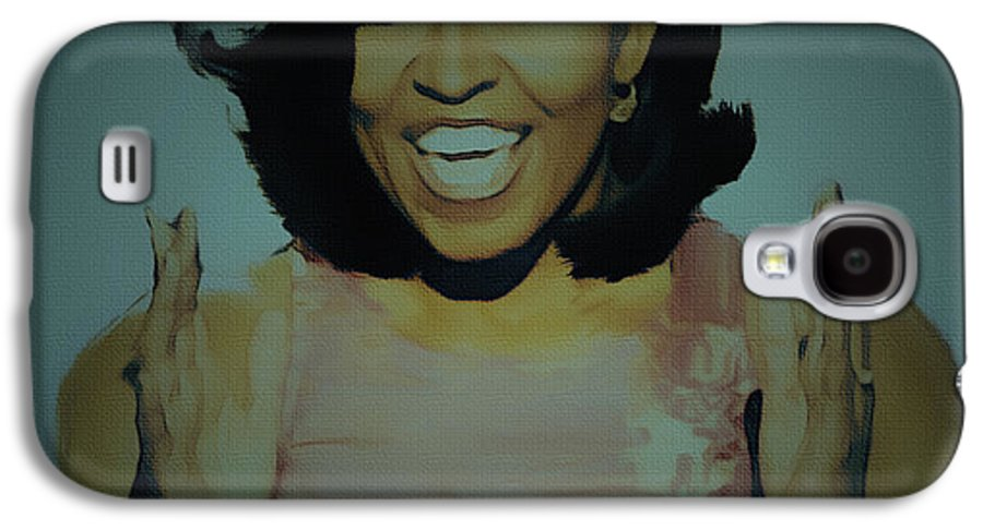 Michelle Obama Galaxy S4 Case featuring the painting First Lady by Brian Reaves