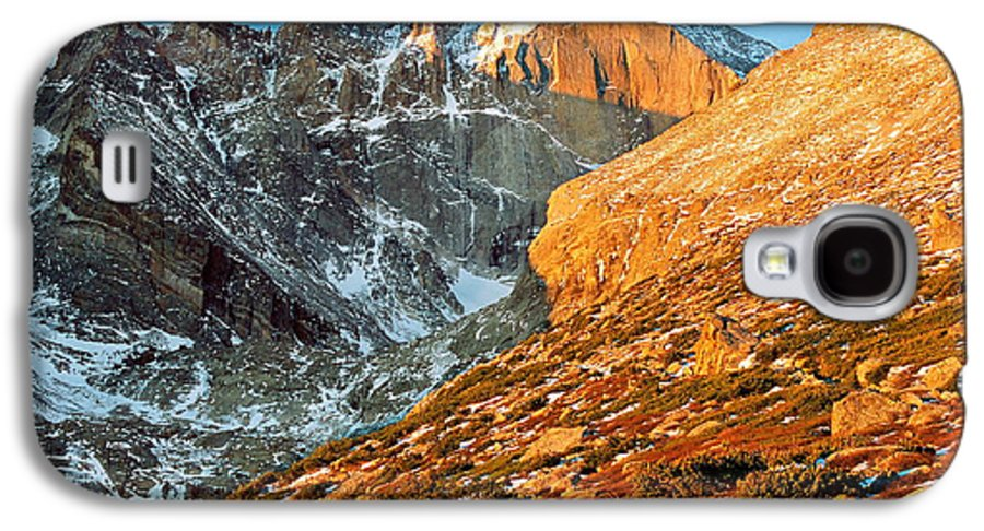 Landscapes Galaxy S4 Case featuring the photograph First Light At Longs Peak by Eric Glaser