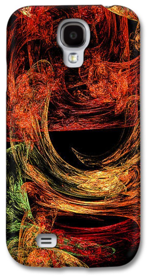 Abstract Galaxy S4 Case featuring the digital art Flight To Oz by Andee Design
