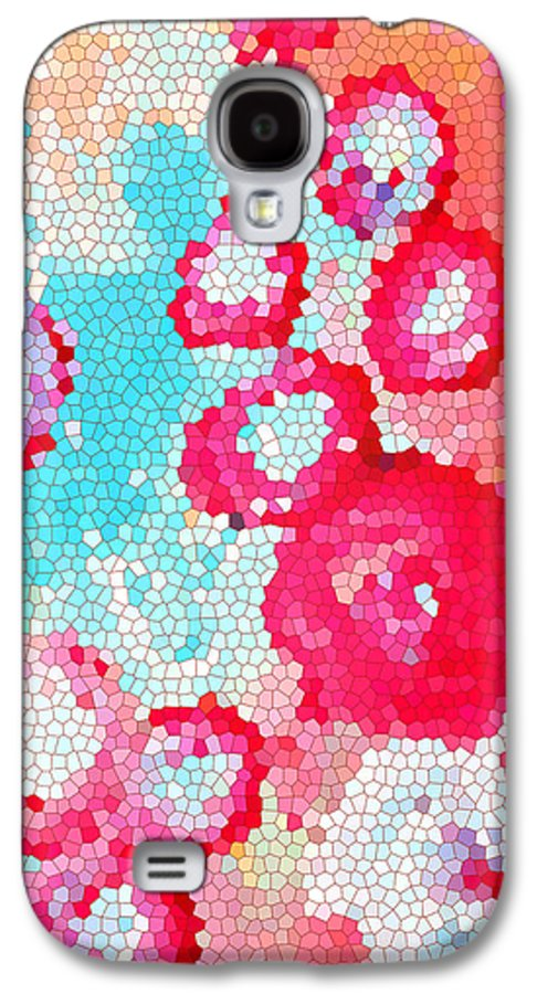 Abstract Art Galaxy S4 Case featuring the drawing Floral IIi by Patricia Awapara