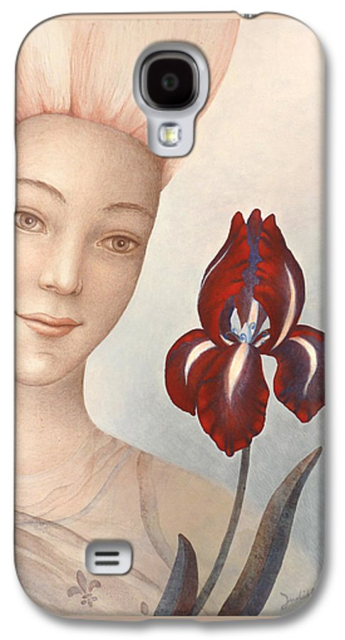 Flower Fairy Galaxy S4 Case featuring the painting Flower Fairy by Judith Grzimek