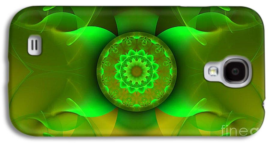 Hanza Turgul Galaxy S4 Case featuring the digital art Flowing Green by Hanza Turgul