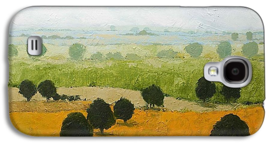 Landscape Galaxy S4 Case featuring the painting Fog Lifting Fast by Allan P Friedlander