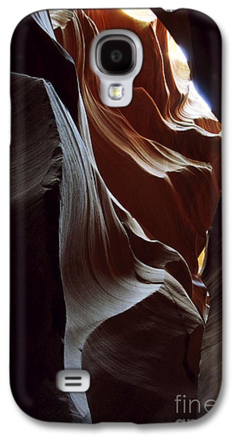 Antelope Canyon Galaxy S4 Case featuring the photograph Follow The Light by Kathy McClure