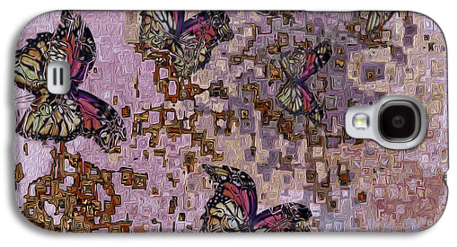 Abstract Galaxy S4 Case featuring the painting Following The Breeze by Jack Zulli
