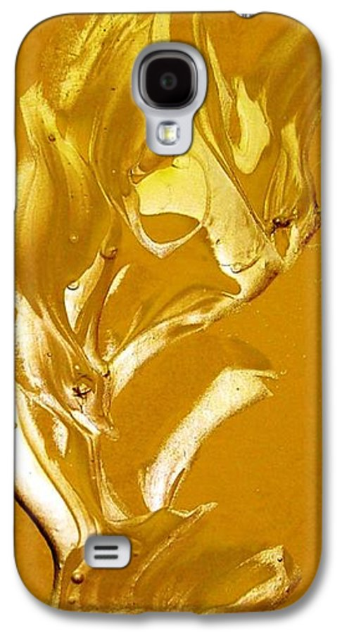 Gold Galaxy S4 Case featuring the painting For Love  For All by Bruce Combs - REACH BEYOND