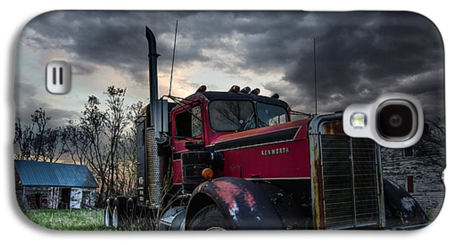 Forgotten Galaxy S4 Case featuring the photograph Forgotten Big Rig by Aaron J Groen