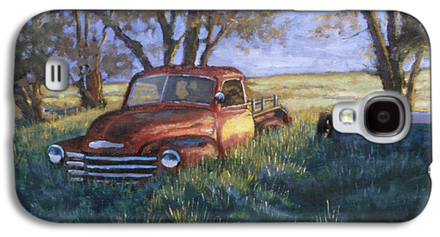 Pickup Truck Galaxy S4 Case featuring the painting Forgotten But Still Good by Jerry McElroy
